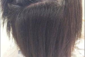 スキスキだった髪を縮毛矯正でリカバリー やっとデジもかけれる長さに伸びたから