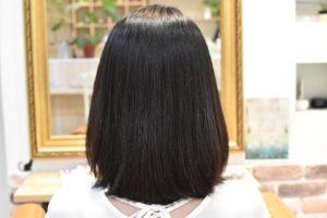 自然な丸みの縮毛矯正