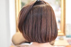 細毛,毎月のカラー毛に自然に丸く縮毛矯正